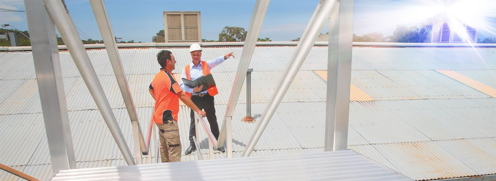 AnchorSafe Australia employees on rooftop