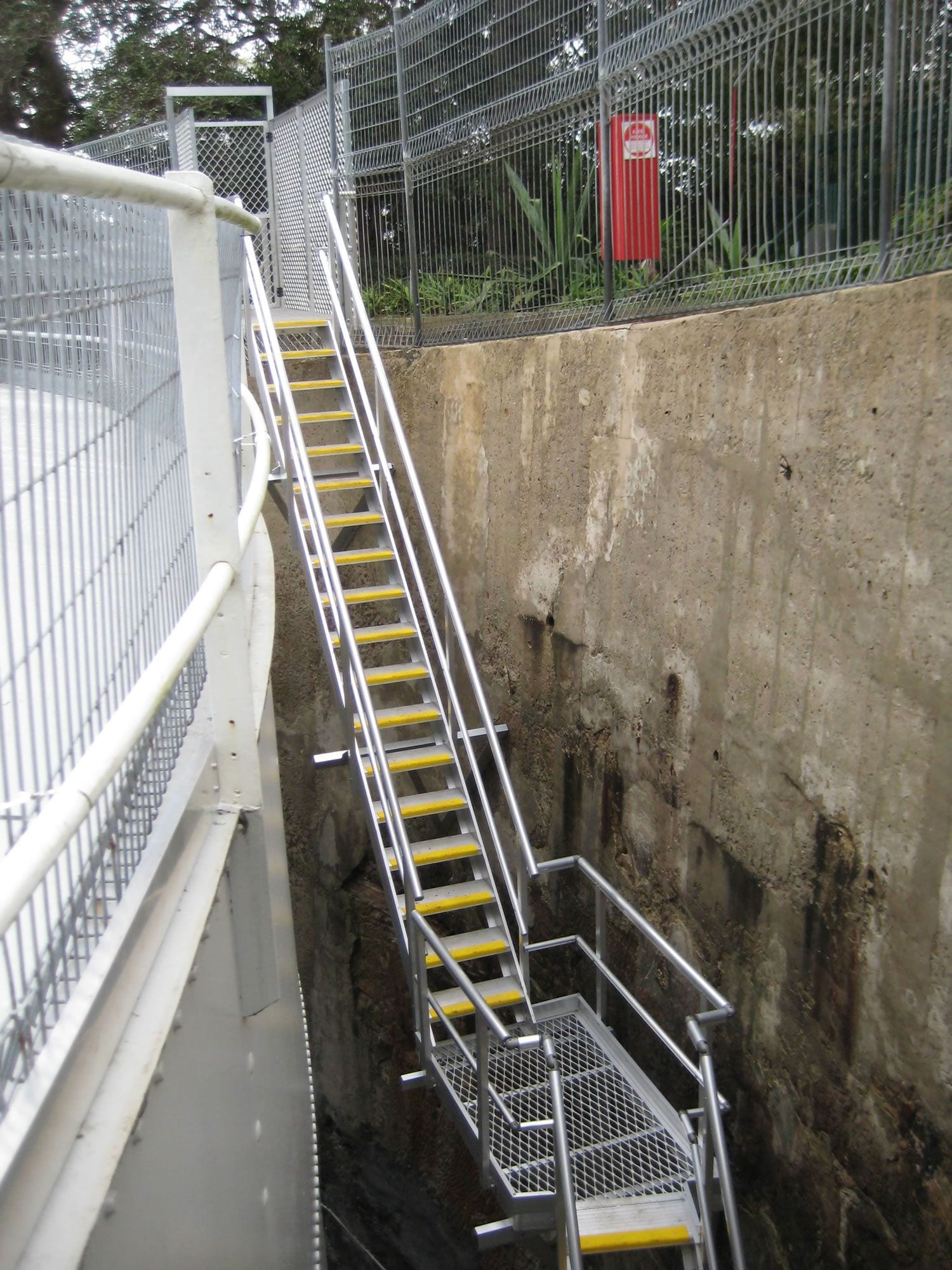 AnchorSafe Australia stairway within a confined space