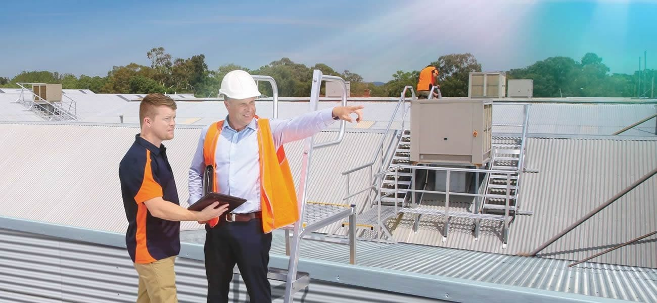 AnchorSafe Australia employees working on rooftop