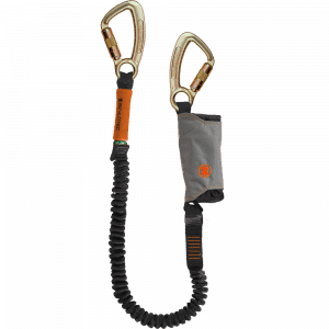 Height safety lanyard and energy absorber SKYSAFE PRO FLEX Triple action karabiner