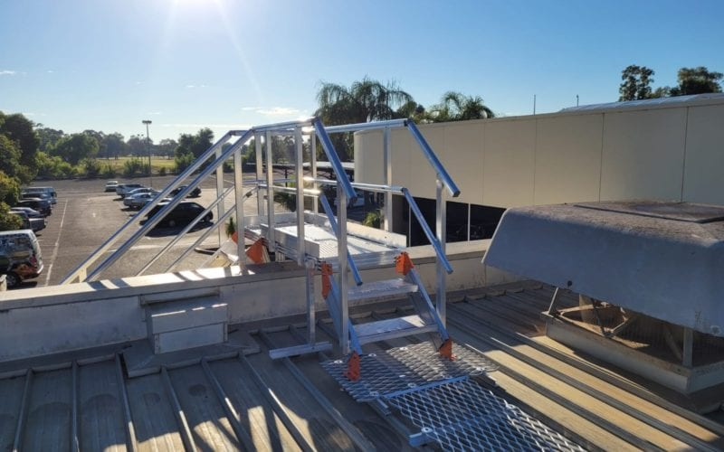 Roof access system - Rich River Golf 17